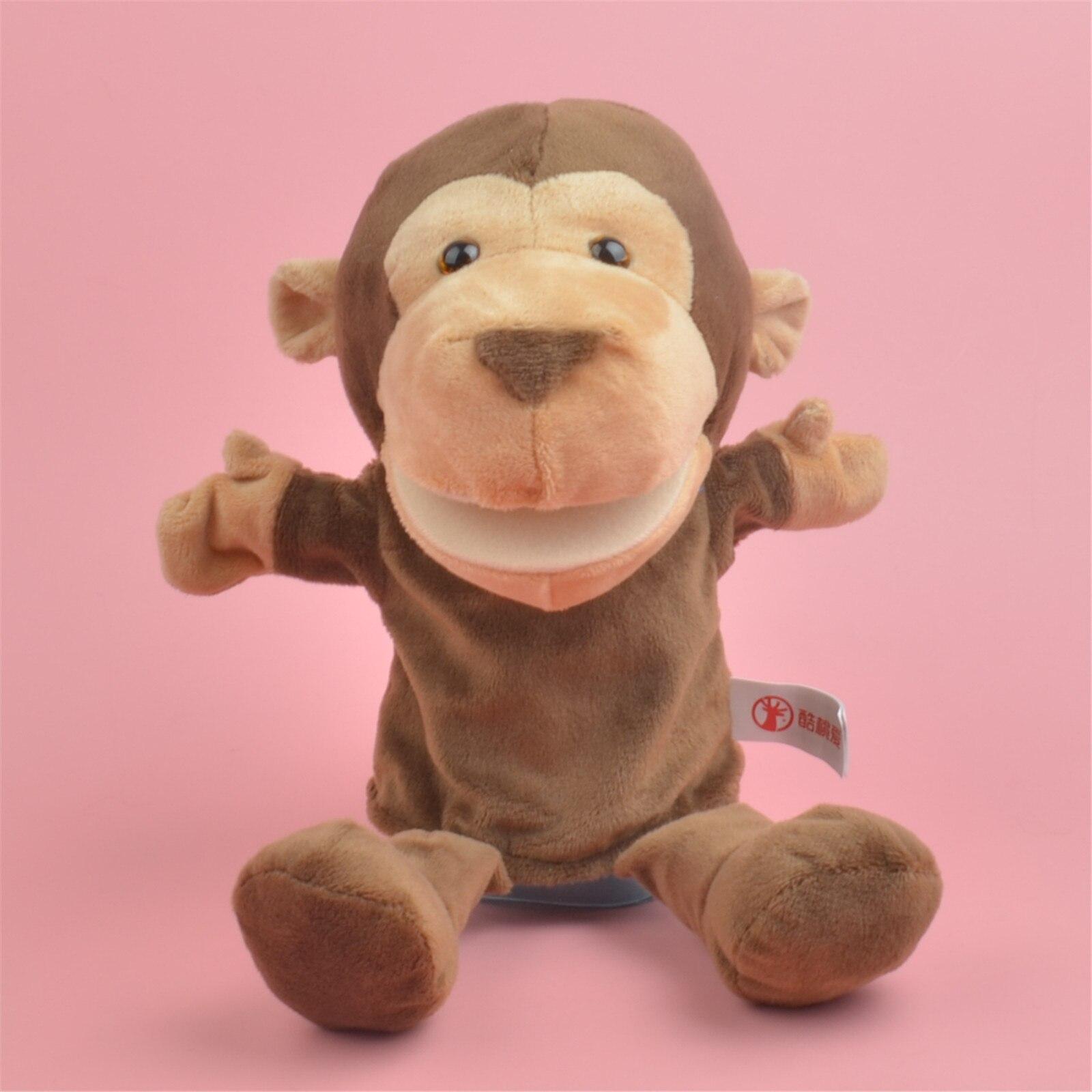25-30cm Plush Hand Orangutans King Kong Puppets Simulation Animal Puppets Kids Gifts Monkey Hand Puppet Parent-child Game