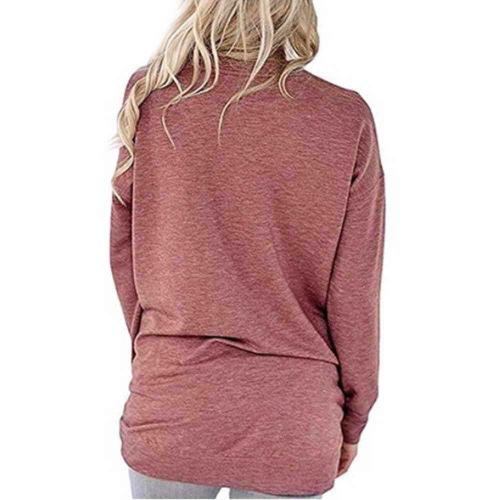 Maman ours décontracté femmes T-shirt automne hiver à la mode à manches longues poche T-shirt dames Femme graphique Kawaii haut grande taille Edgy vêtements