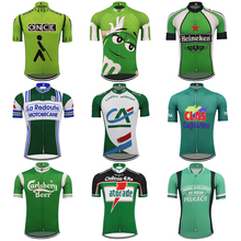 Retro Men #8217 s cycling jersey Classic green Multiple styles bike clothing Breathable bicycle clothes MTB jersey Ciclismo custom cheap DOWNORUP Polyester Short cycling jersey-A102 Spring summer AUTUMN Jerseys Full Zipper Fits true to size take your normal size