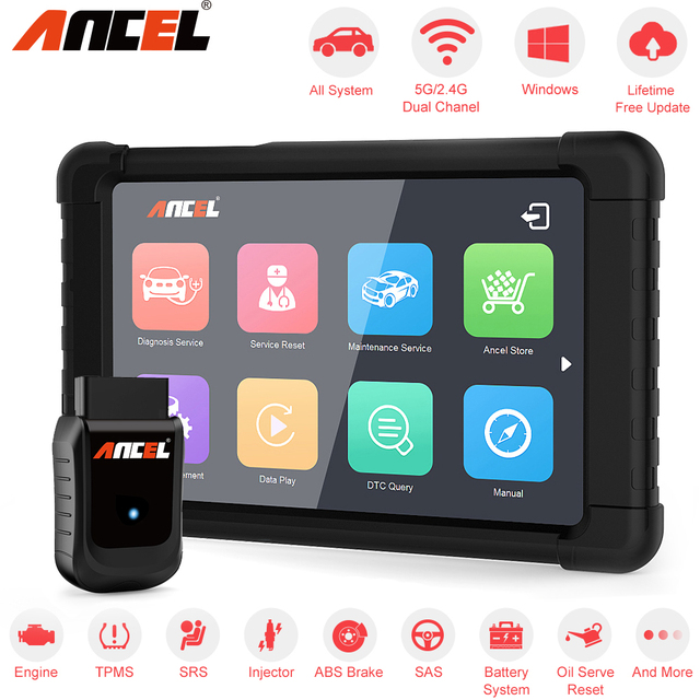Ancel X5 OBD2 Automotive Scanner Full System WIFI Easydiag ABS SRS EPB DPF Oil Reset Tools ECU Coding Obd 2 Car Diagnostic Tool