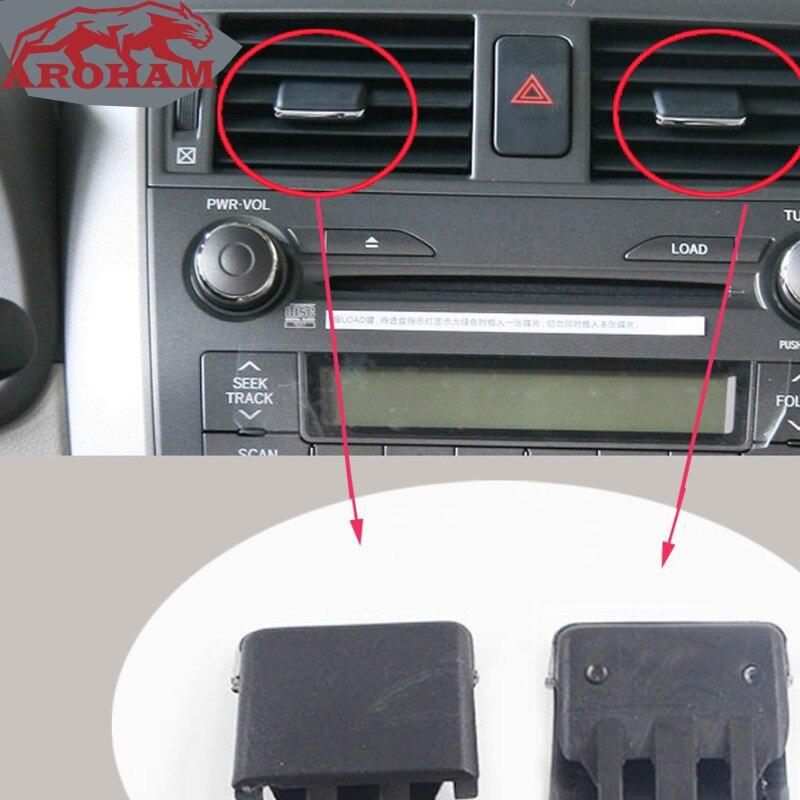 4 sztuk środek samochodu Dash A/C Vent Louvre Blade Slice klimatyzacja klips z liściem pasuje do Toyota Corolla 2004-2007 2008 2009 2010