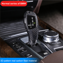 цена на Genuine Carbon Fiber Gear Shift Knob Panel Cover Trim Collars For BMW 1 2 3 X3 X4 F30 3GT 4GT 5 6 7 X5 X6 Left and Right
