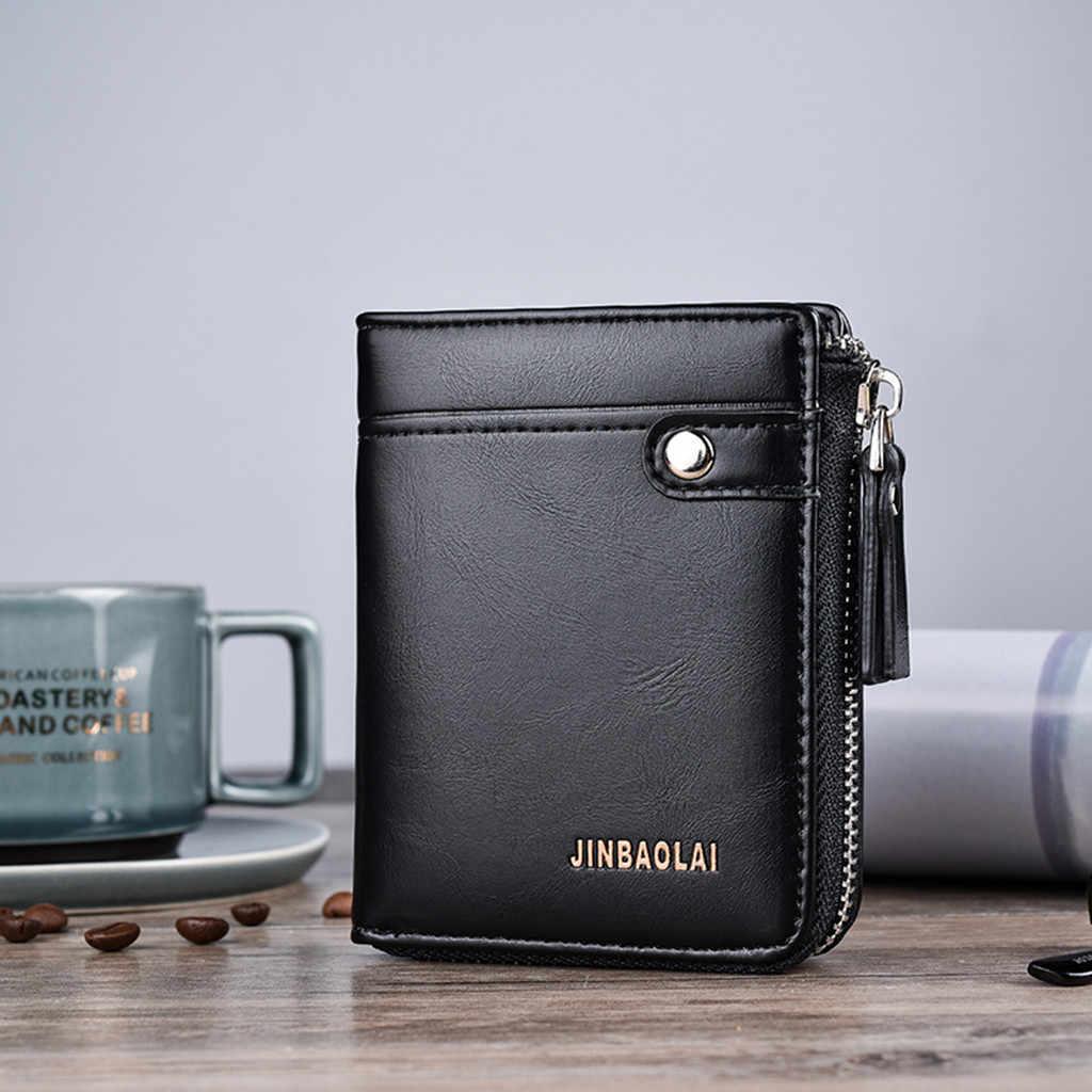 Männer Kurze Brieftasche Casual Multi-funktion Kupplung Tasche Karte Paket Multi-karte Halter Leder Geldbörse Münze Tasche Geldbörse männlichen Brieftaschen