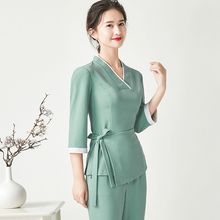 Spring/Summer 2020 new beauty salon working suit Female beautician skin management health salon high-end