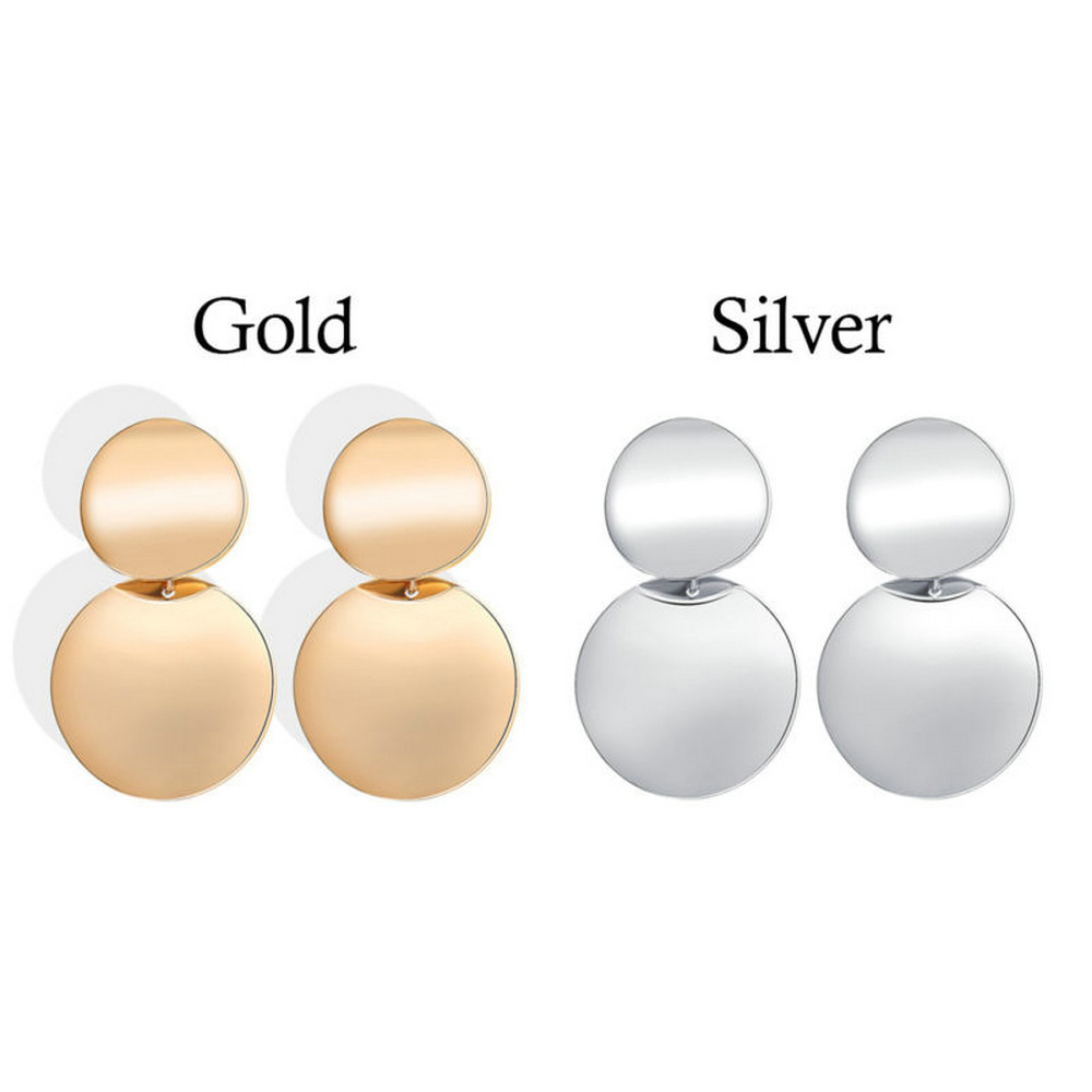 European And American Fashionable And All-around Fashionable Retro Gold Round Earrings For Women