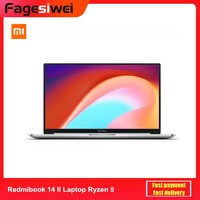 2020 Xiaomi Redmibook 14 II Laptop AMD Ryzen 5 4500U DDR4 Dual RAM 512GB SSD Windows 10 MIMO WiFi USB Type C HDMI Computer