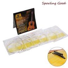 Серебряные струны для гитары 6 шт набор струн классической sc12