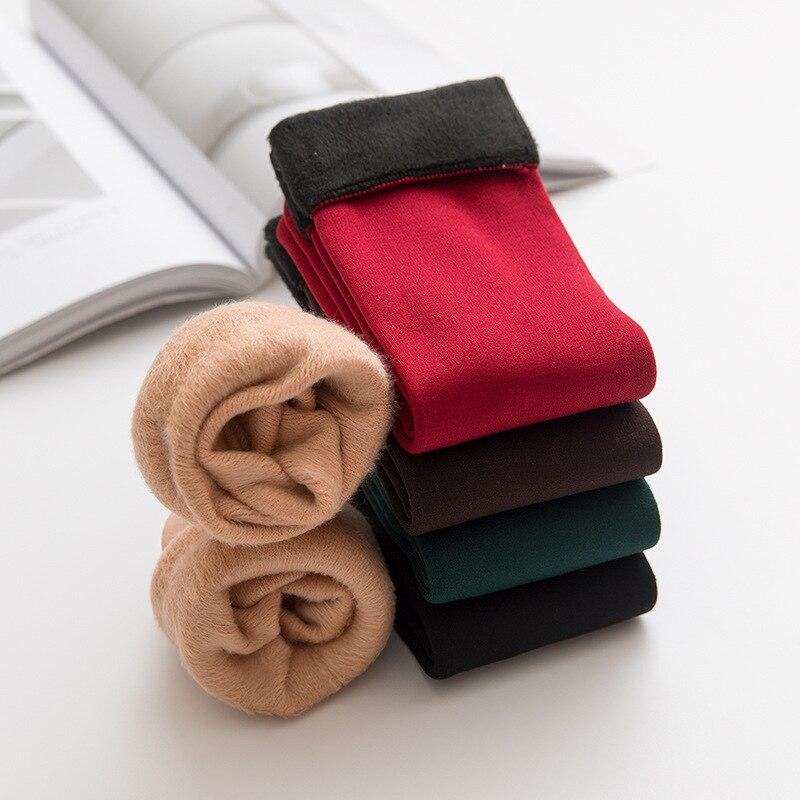 Новинка, осенне-зимние теплые носки средней длины для взрослых, плюшевые утепленные мужские и женские модные однотонные носки для снега
