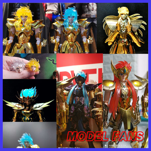 MODEL FANS IN-STOCK <font><b>Saint</b></font> <font><b>Seiya</b></font> EX <font><b>myth</b></font> <font><b>cloth</b></font> transparent hair for gemini saga Pisces Aphrodite <font><b>Aquarius</b></font> camus cancer image