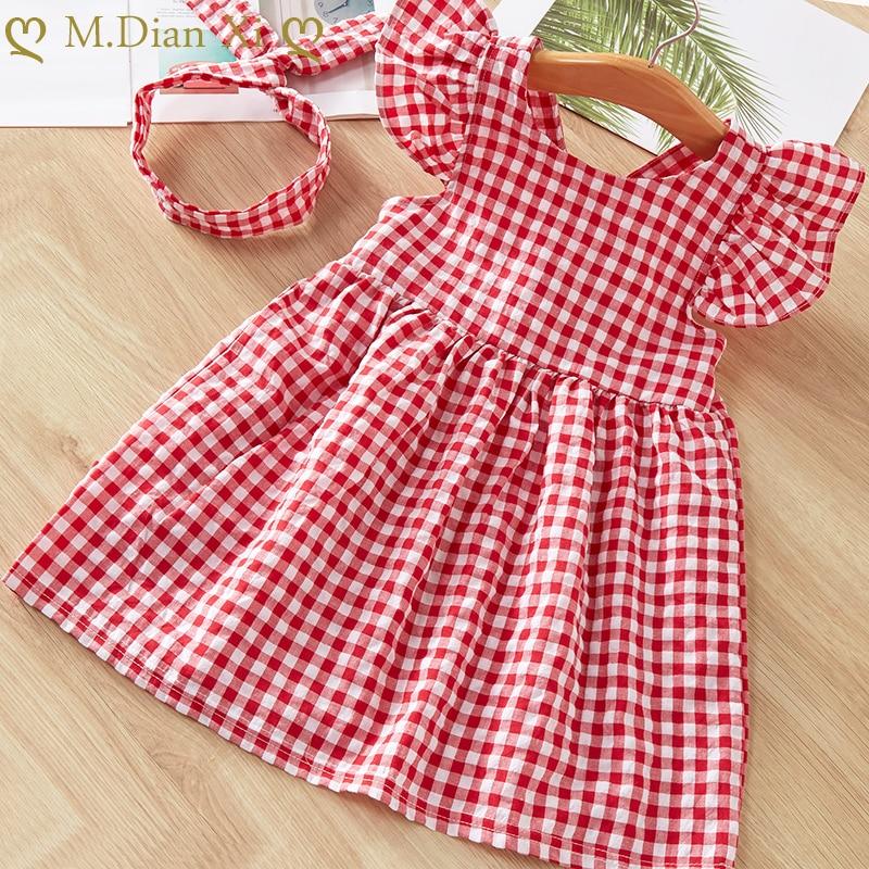 Baby Mädchen Kleider Sommer Kleider Kinder Sleeveless Nette Dach Druck O-ansatz A-line Kleid Sommer Prinzessin Kleider für Mädchen