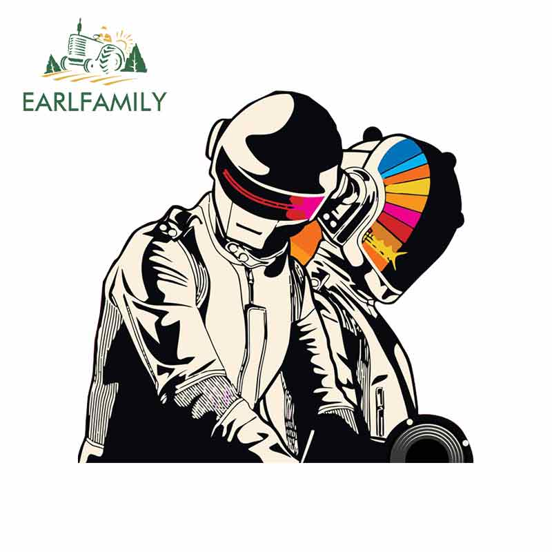 EARLFAMILY 13cm X 13cm For Daft-Punk Cartoon Funny Car Stickers Occlusion Scratch Waterproof Car Bumper Window Stickers