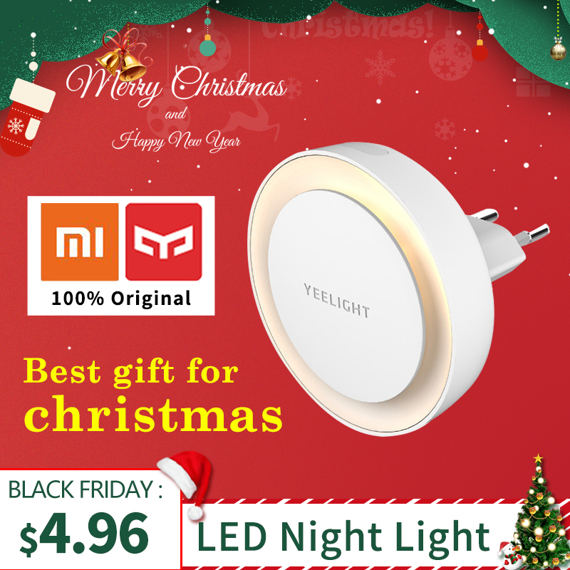 Xiaomi Yeelight LED Night Light Round Bulb XIaomi Smart Home for Children With Light Sensitive Sensor Smart Wall Lamp EU Version|Home Automation Modules| |  - title=