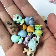50 adet/torba 1 2cm küçük hayvan dükkanı bebek Pet pazarı aksiyon figürleri oyuncak sevimli kedi köpek at tavşan figürleri çocuk casimeritos juguetes