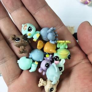 Image 1 - Figurines danimaux domestiques, jouet daction de marché, 50 pièces/sac 1 à 2cm, jouet chat mignon, cheval, lapin, enfant
