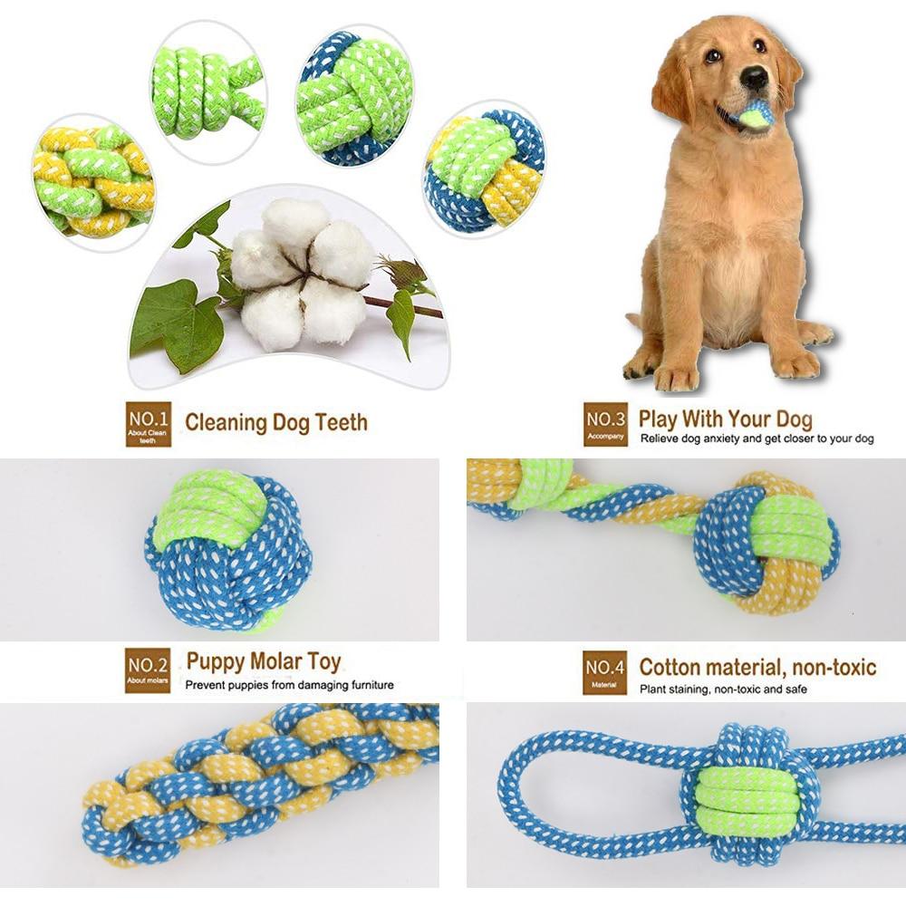 entrenamiento para perros liker magn/ético pelota con cuerda