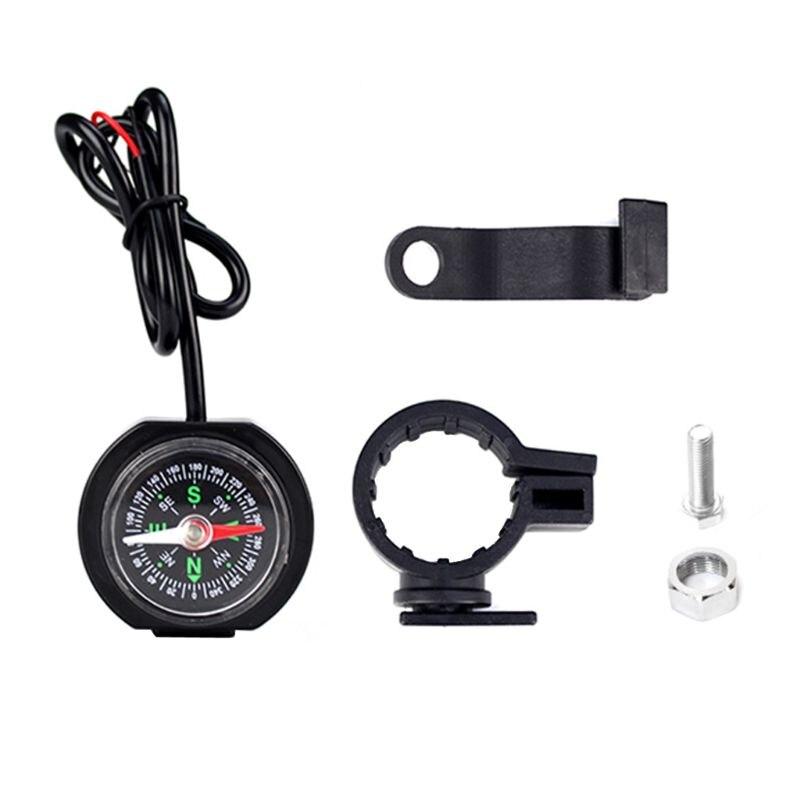 Universal Motorrad 12V 24V Motorrad Lenker Wasserdichte USB Ladegerät Power Adapter mit Kompass für Handys GPS