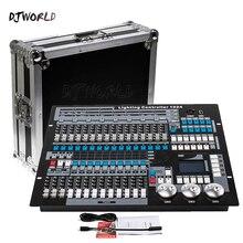 Djworld dmx controlador 1024 console de luz dmx 512 dj equipamentos controlador padrão internacional para palco iluminação dj cob par