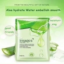 Masque Facial hydratant à l'aloe, 1 pièce, soins pour la peau, masque coréen en soie, Pack de cosmétiques, Mascara coréen, acné, traitement du Visage