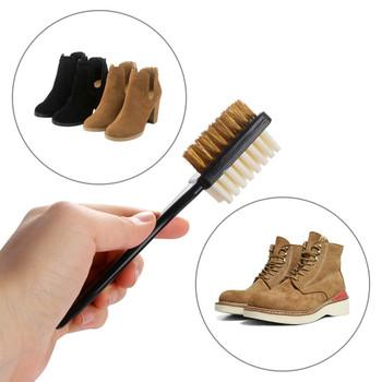 2-jednostronne gadżety szczotka gumka do mazania zestaw pasuje do zamszu buty nubukowe stalowe plastikowe gumowe buty Cleaner Stain Dust tanie i dobre opinie CN (pochodzenie) RUBBER Plastikowe włosy PLASTIC Plastic Hair send by random approx 17*3cm 1 pc x Shoe Cleaning Brush