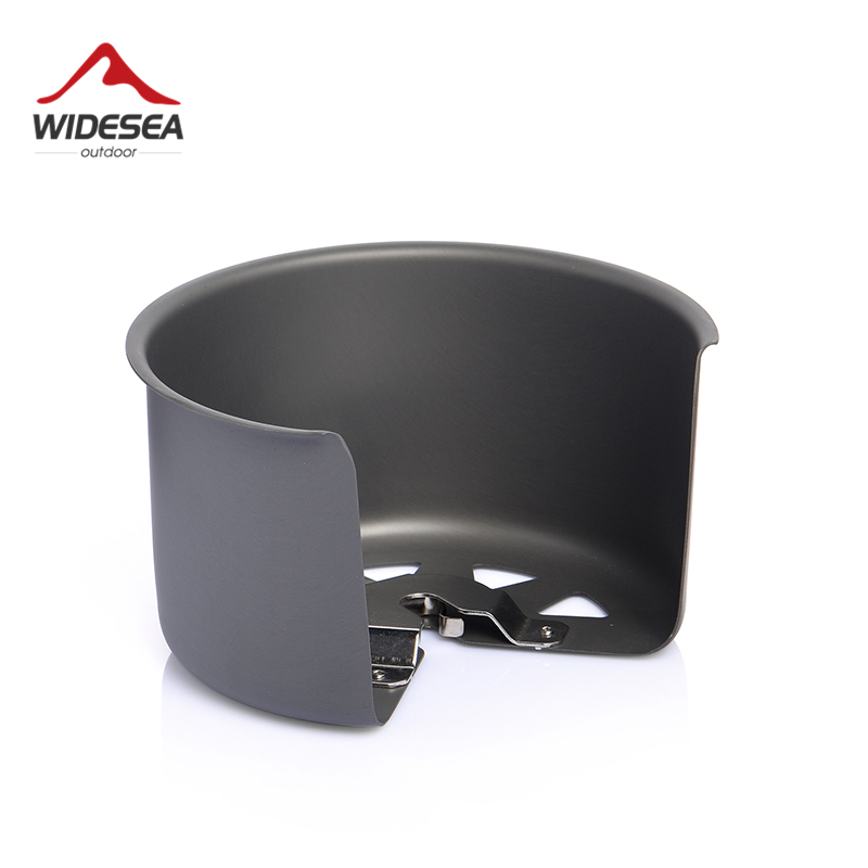 Widesea Camping Gas Stove Wind Shield Outdoor Burner Screen Wind Guard Portable Gasonline Windproof  Cooking Set Survial