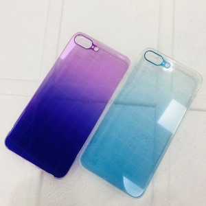 Image 1 - Vidro temperado De Metal Gradiente Colorido Transparente Rígido Caso Telefone Fino para iPhone XS Max XR X 10 8 7 6 6s Plus Voltar Abranger Os Casos