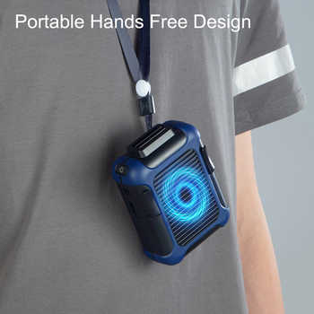 Electric Air Cooler USB Rechargeable Hang Up The Waist Halter Convenient Fan Air Conditioning Fan 3-Speed Wind for Home
