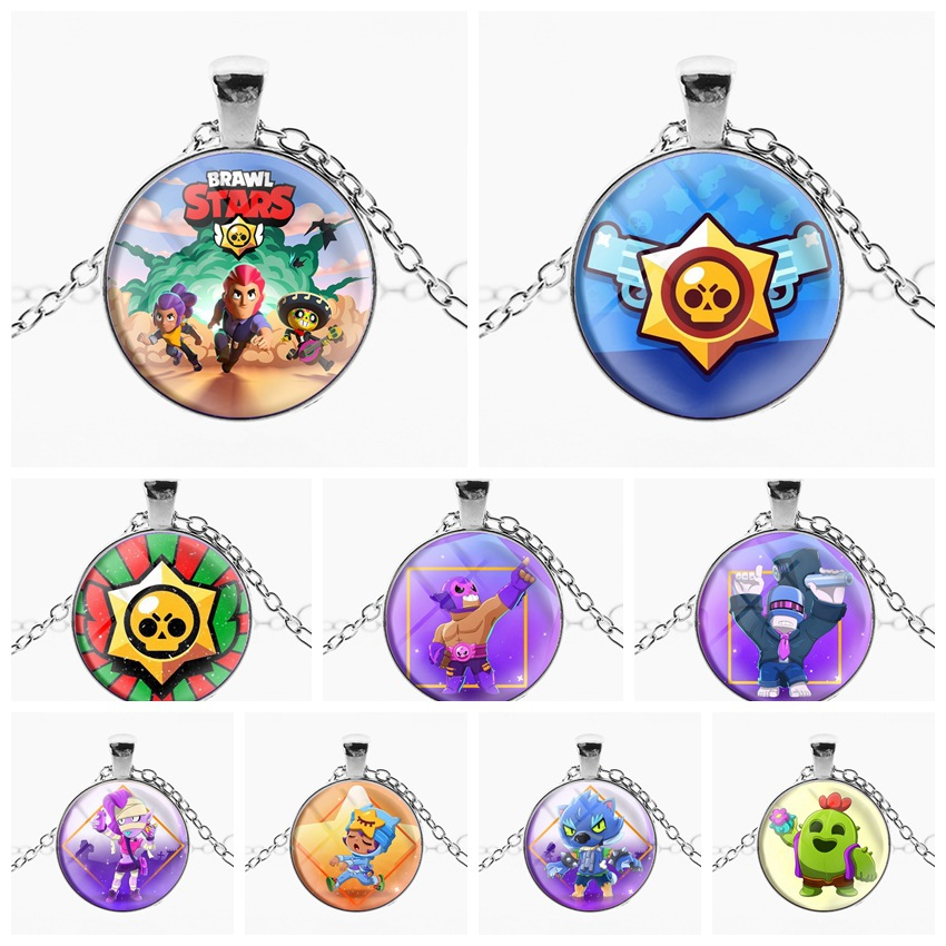 2020 New Brawl Cartoon Game Stars Pendant Long Chain  Decoration For Men Kids Necklace Unisex Jewelry Cosplay Ornament Souvenirs