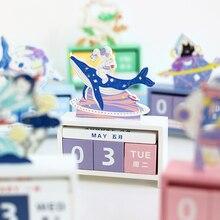 INS wind wooden perpetual calendar galaxy secret love literary fresh desktop office decoration desk calendar kawaii supplies