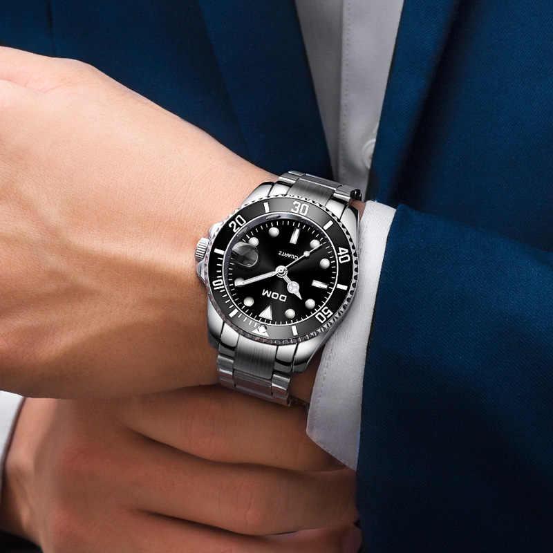 DOM クラシックスタイルのメンズ腕時計トップの高級ブランド 30 メートル防水男性鋼腕時計男性時計ファッション腕時計 M-1263D-3M