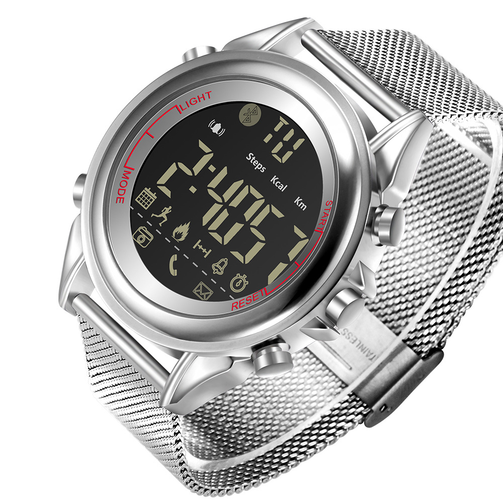 Мужские спортивные Смарт часы, брендовый шагомер, удаленная камера, калории, Bluetooth, умные часы, напоминание, цифровые наручные часы для Ios