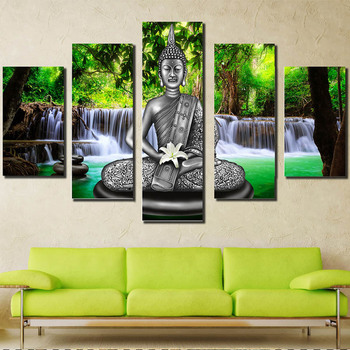 Full Square/Round Drill 5D DIY diamond painting 5pc Buddha statue Pictures mosaic Diamond Embroidery Wall Arts J1763