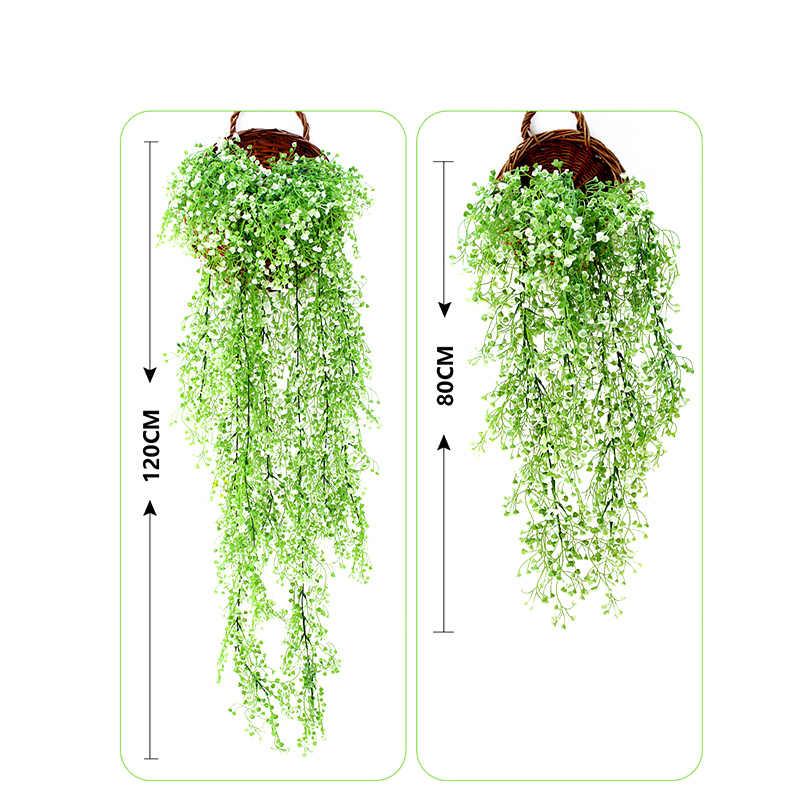 2 шт. искусственные Висячие растения Gypsophila 120 см PP растения зеленые листья настенный Декор Аксессуары для ванной комнаты
