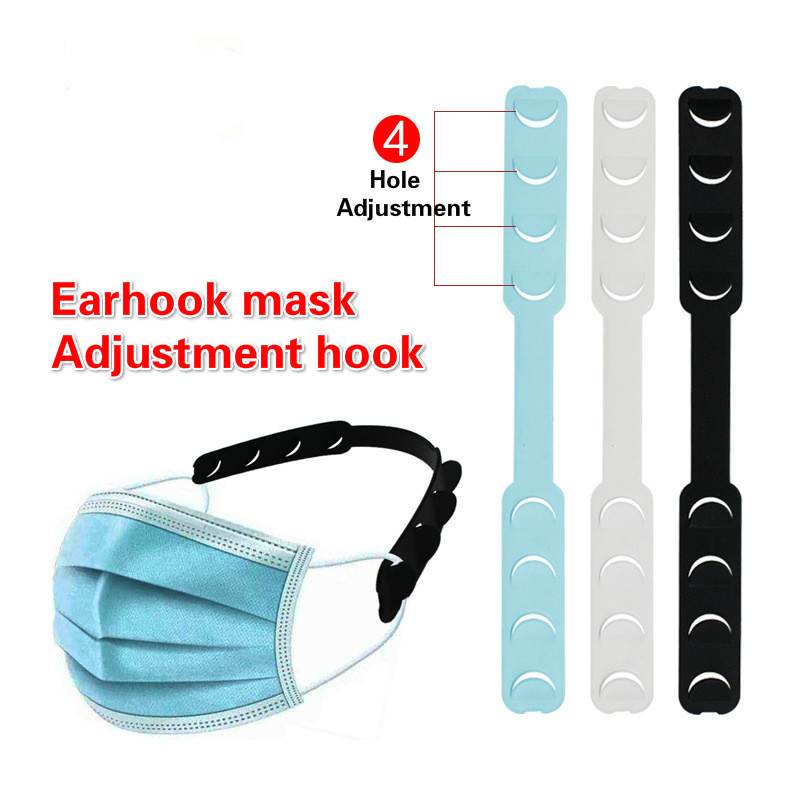 5pcs Face Shield Ear Hooks Buckle Mask Adjustable Ear Strap Extension Disposable Mask Anti Lock Buckle Dust Mask Accessories