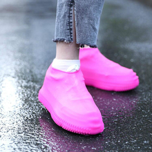 1pairs Fashion Recyclable Silicone Overshoes Reusable Waterproof Rainproof Men Shoes Covers Rain Boots Non-slip Washable S/M/L 1pairs pvc waterproof rain high heels shoes cover women rain boots rainproof slip resistant overshoes shoes covers