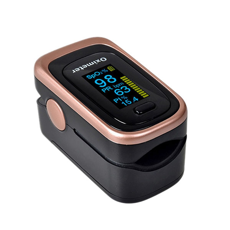Finger Pulse Oximeter 4 Parameter Spo2 Pr Pi Odi4 Finger Oximeter 8 Hour Sleep Monitoring With Case