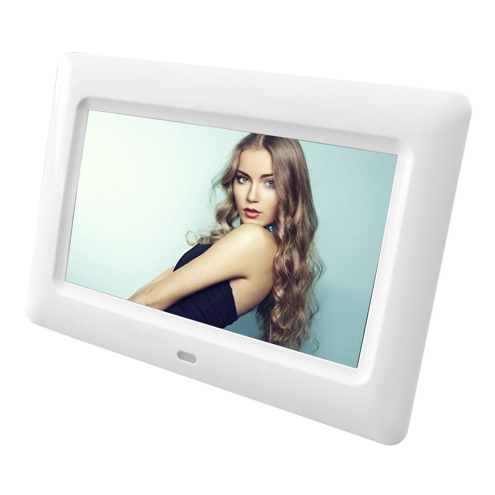 7 pouces LED rétro-éclairage haute définition 800x480 cadre Photo numérique Album électronique Photo musique vidéo cadre