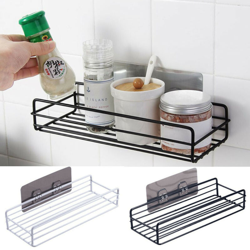 1PC Stainless Steel Sink Sucker Organizer Shelf Bathroom Wall Vacuum Suction Cup Sponges Storage Basket Kitchen Towel Holder