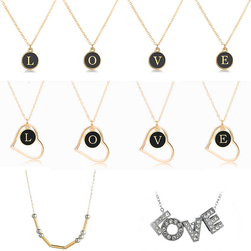 2019 Trendy  A-Z Gold Letter Necklace Double Side Morse Code Pendant Private Custom Made Rhinestone Necklaces&Pendants Gifts