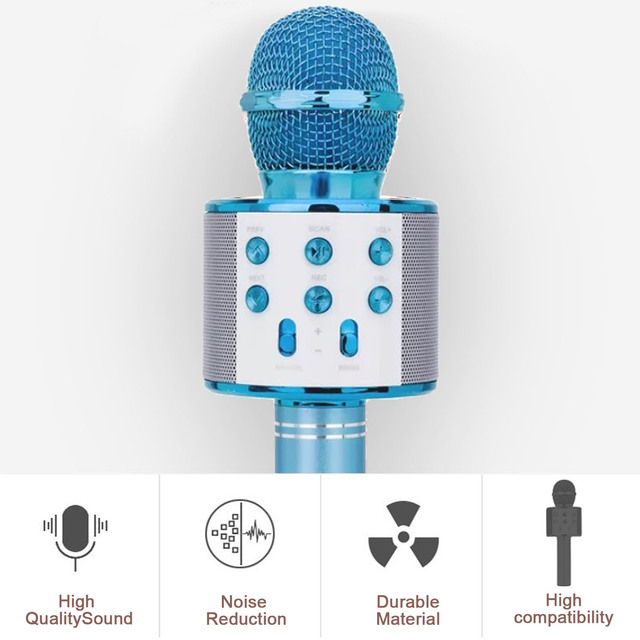 Microphone 3in1 karaoké sans fil 3
