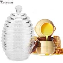 265 мл прозрачная банка для меда в форме улей с палочкой-капельницей для домашнего хранения и дозирования медовой капельницы