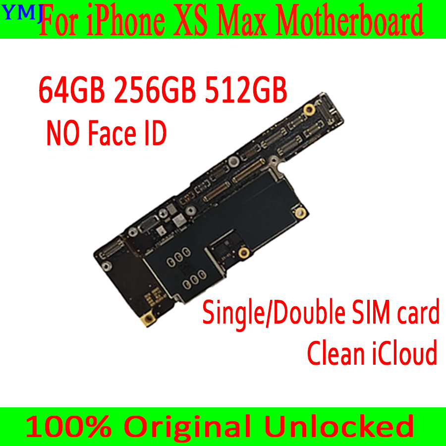 64G 256G 512G для iPhone XS Max материнская плата с/без распознавания лица Оригинальный разблокированный полный чип материнская плата двойная и одна SIM...