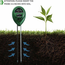 3 In 1 Tanah Detector Meter Taman Rumput Tanaman Higrometer Moisture Light Sensor PH(China)