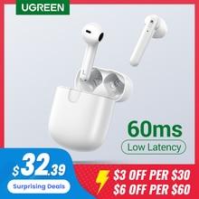 Ugreen-Bluetooth 5.0を搭載したhituneワイヤレスヘッドセット,マイクと4つのマイクを備えたステレオヘッドセット,60msの低遅延,ワイヤレス充電