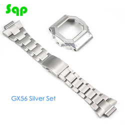 GX56 Silver Watch Set Watchband Bezel Watch Case 100% Metal 316L Stainless Steel With Free Tools