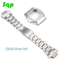 GX56 conjunto de reloj de plata caja de reloj de bisel con banda de reloj 100% Acero inoxidable 316L metálico con herramientas gratuitas