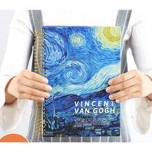 Новый оригинальный блокнот с художественной литературной росписью Ван Гога, ежемесячный планировщик Ван Гога, органайзер-ежедневник, милы...