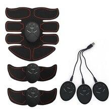 Wiederaufladbare Drahtlose Muscle Stimulator Smart Fitness EMS Trainer ABS Bauch Arm Muscle Exerciser Körper Abnehmen Massage