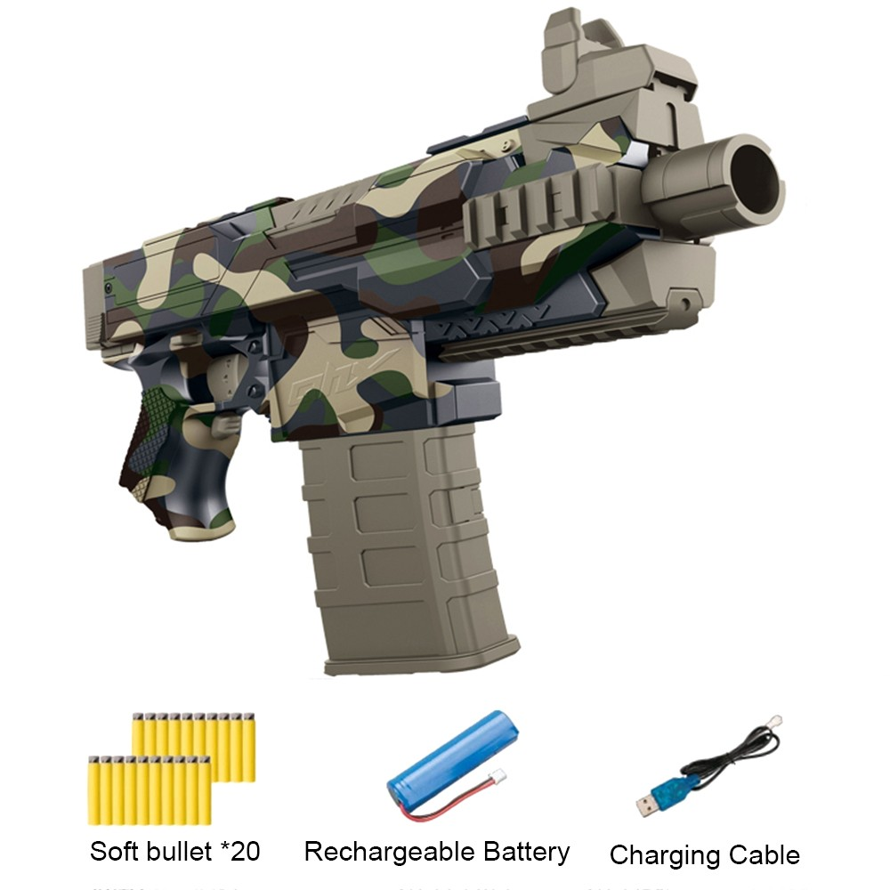 Outdoor Electric Burst Soft Bullet Gun Suit For Nerf With 20pcs Bullets Gun Model Toy Guns For Boys