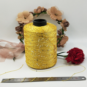 Image 2 - 500g paillette yarn Sequins wool needle Natural beads lace tie a knot yarn for hand knitting crochet thread line sweater ZL50