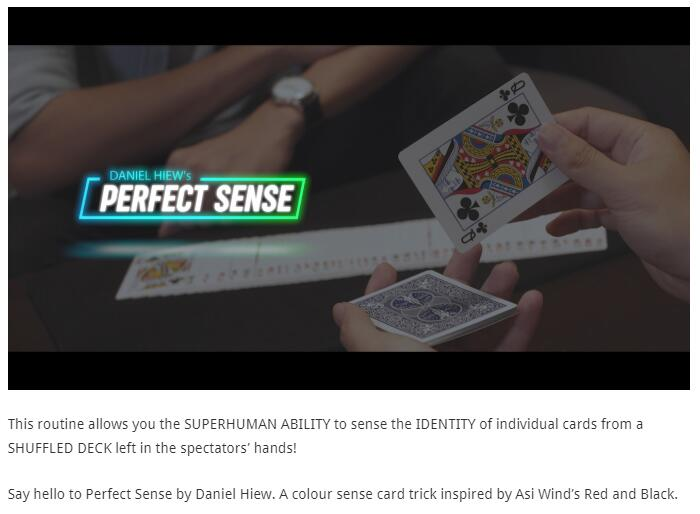 Skymember Presents Perfect Sense By Daniel Hiew , Magic Tricks , Magic Instruction